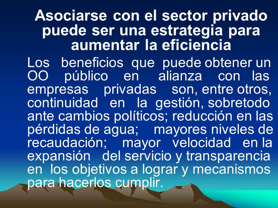Asociarse con el sector privado puede ser una estrategia para aumentar la eficiencia