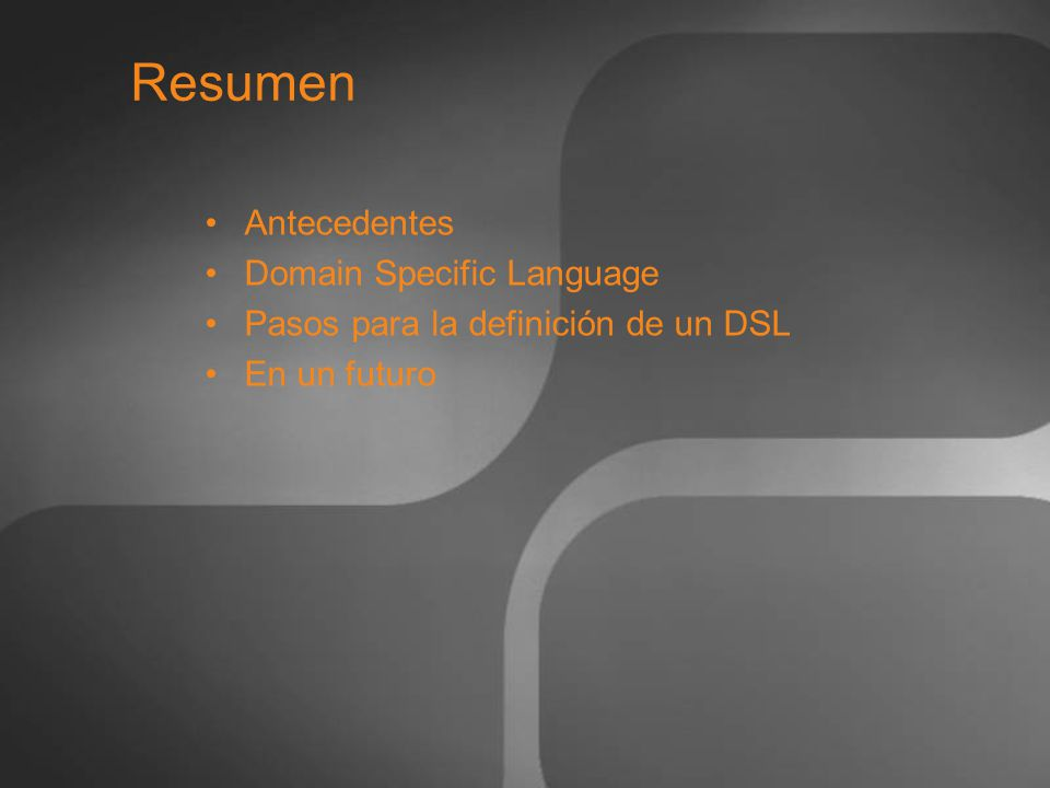 Resumen Antecedentes Domain Specific Language