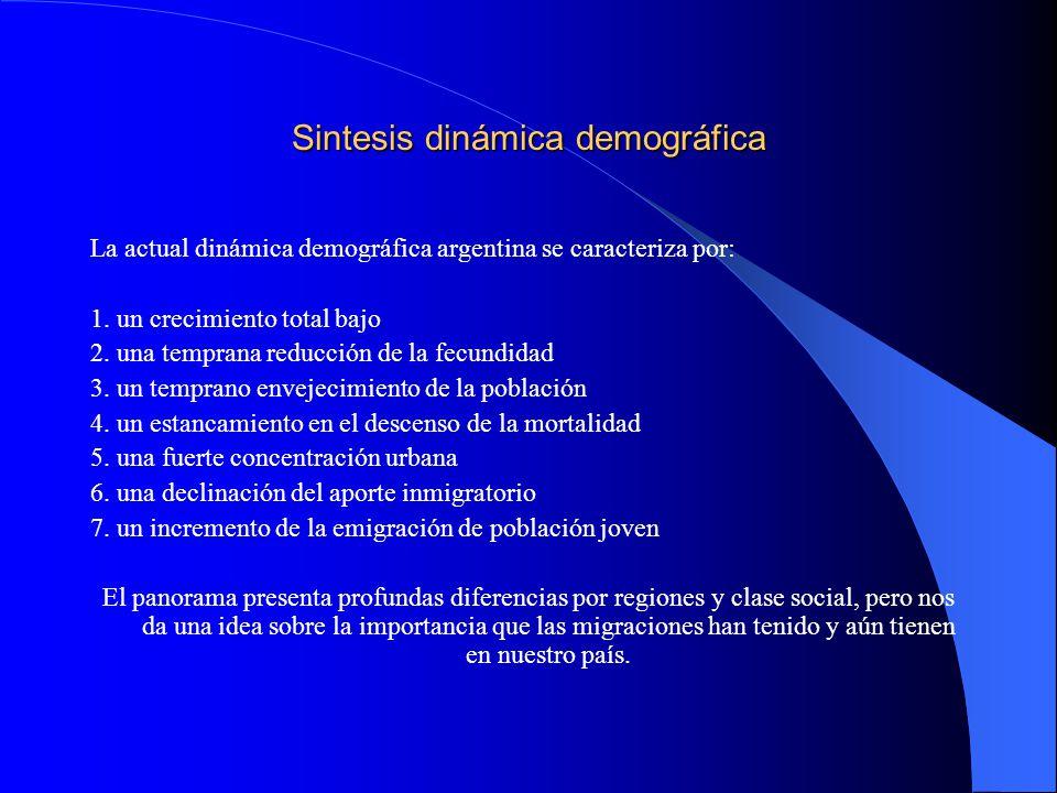 Sintesis dinámica demográfica