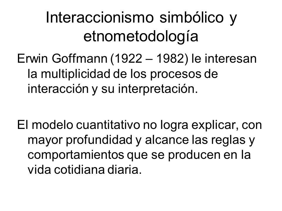 Interaccionismo simbólico y etnometodología
