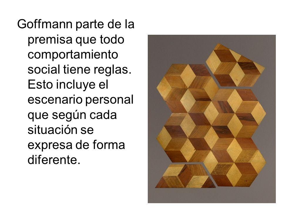 Goffmann parte de la premisa que todo comportamiento social tiene reglas.