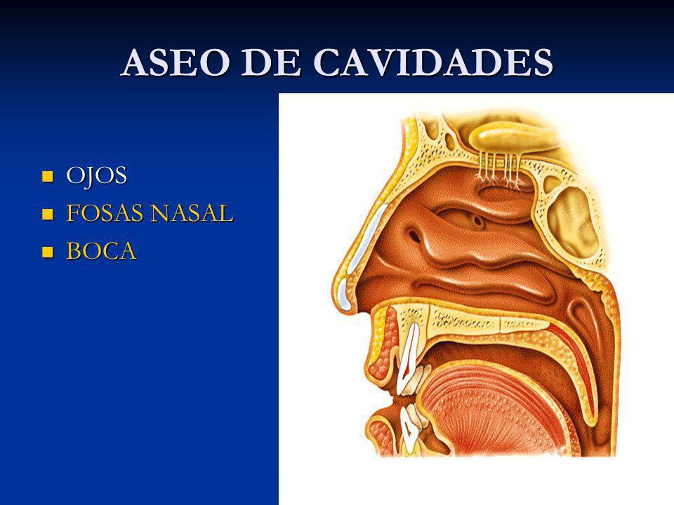ASEO DE CAVIDADES OJOS FOSAS NASAL BOCA