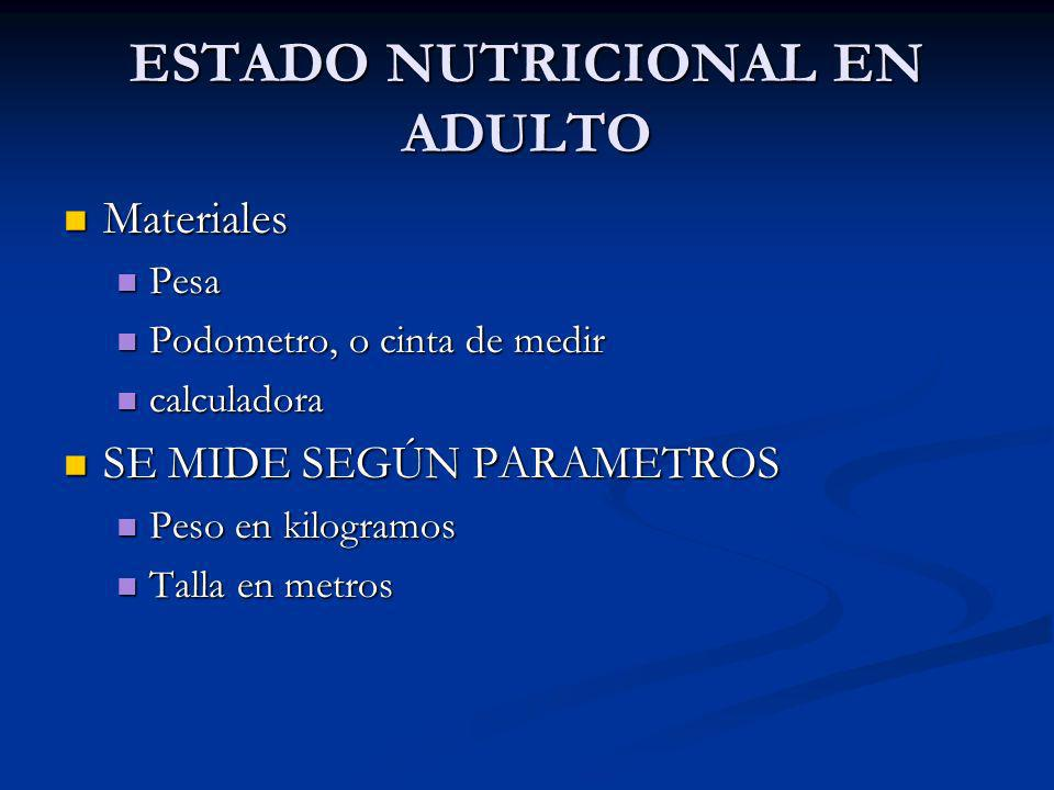 ESTADO NUTRICIONAL EN ADULTO
