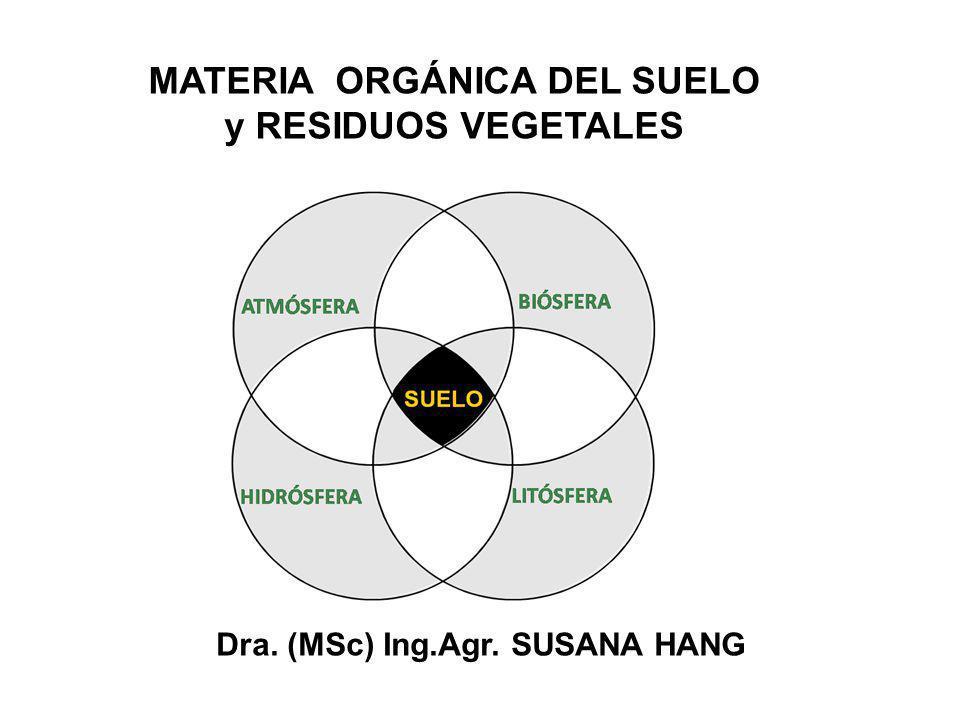 MATERIA ORGÁNICA DEL SUELO y RESIDUOS VEGETALES