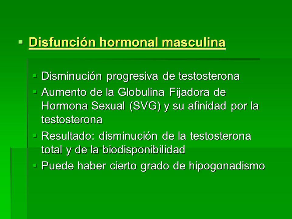 Disfunción hormonal masculina