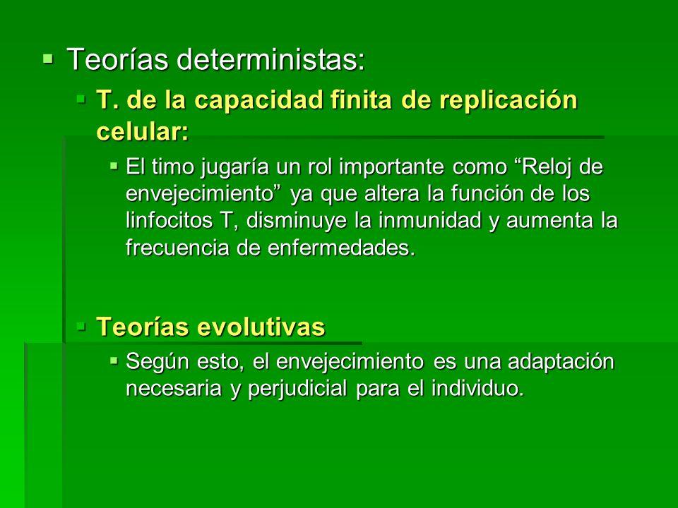 Teorías deterministas: