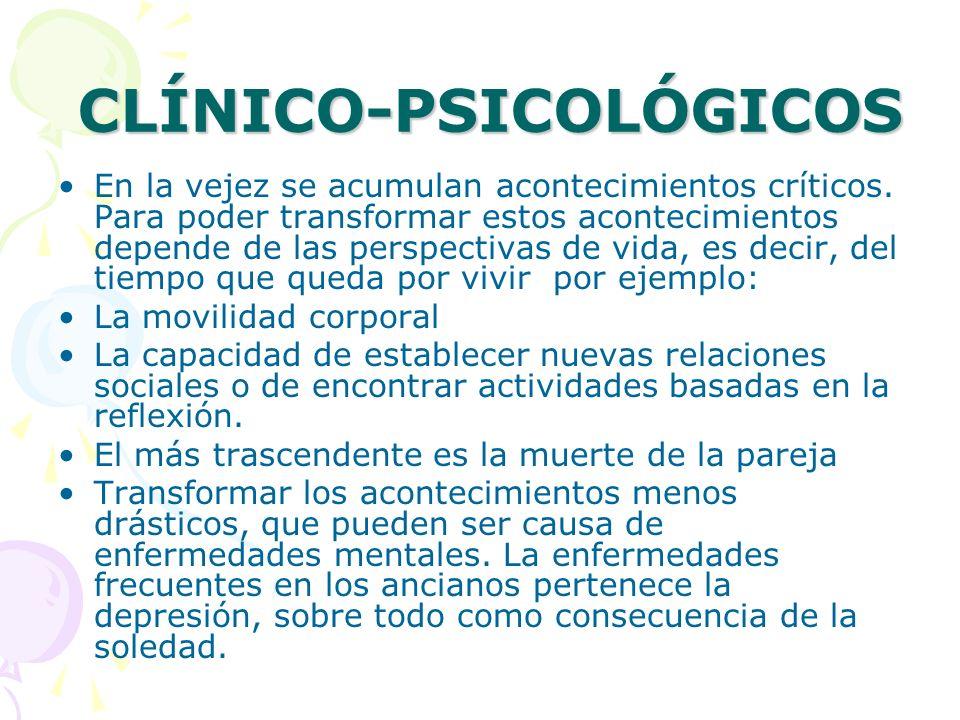 CLÍNICO-PSICOLÓGICOS
