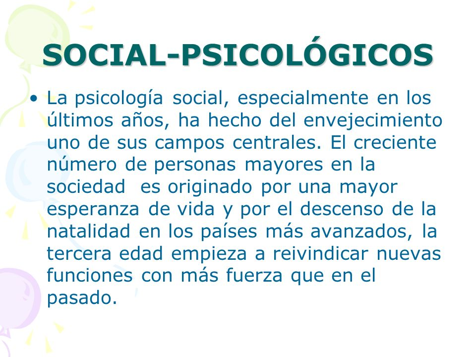SOCIAL-PSICOLÓGICOS