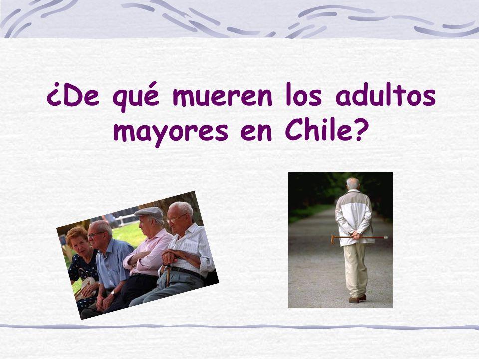 ¿De qué mueren los adultos mayores en Chile