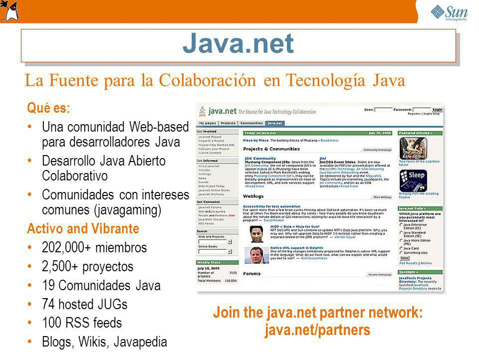 Join the java.net partner network: