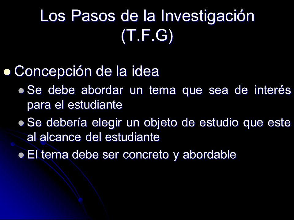 Los Pasos de la Investigación (T.F.G)