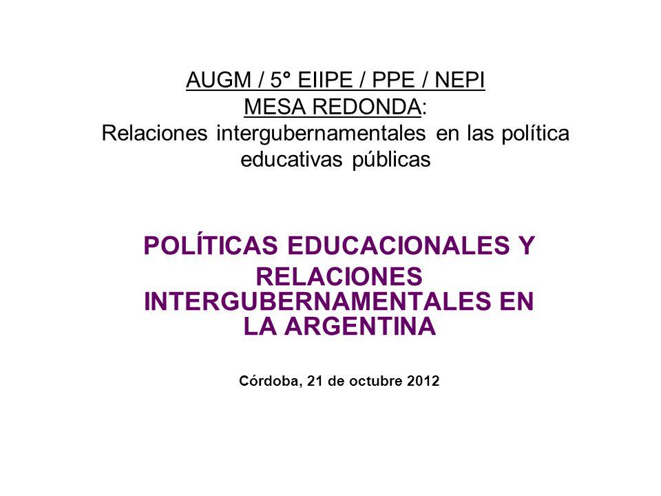 POLÍTICAS EDUCACIONALES Y