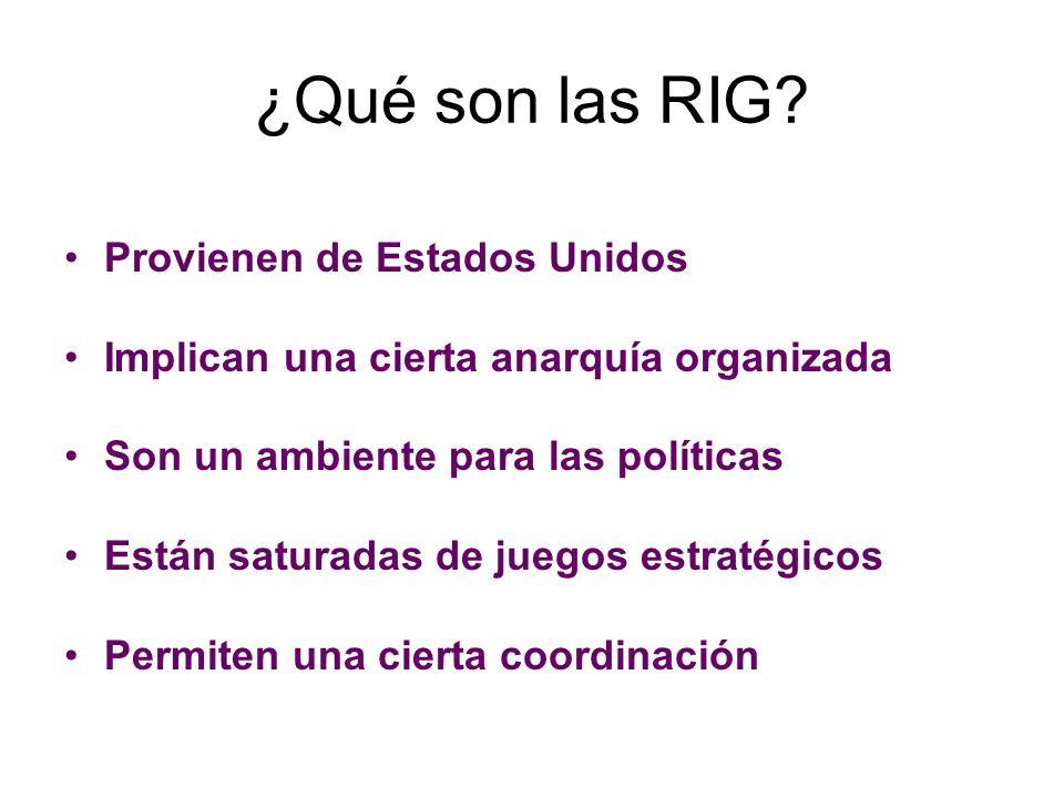 ¿Qué son las RIG Provienen de Estados Unidos