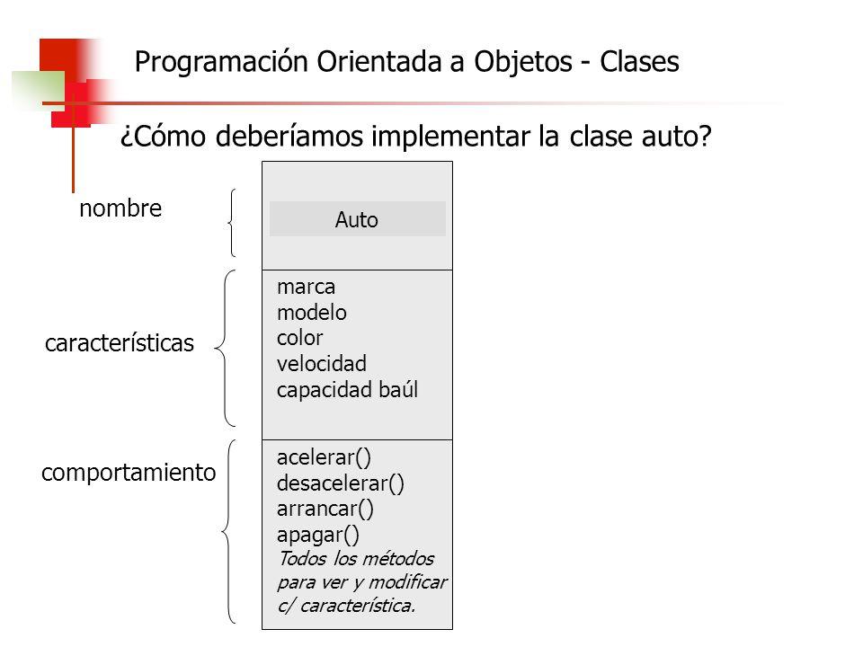 Programación Orientada a Objetos - Clases