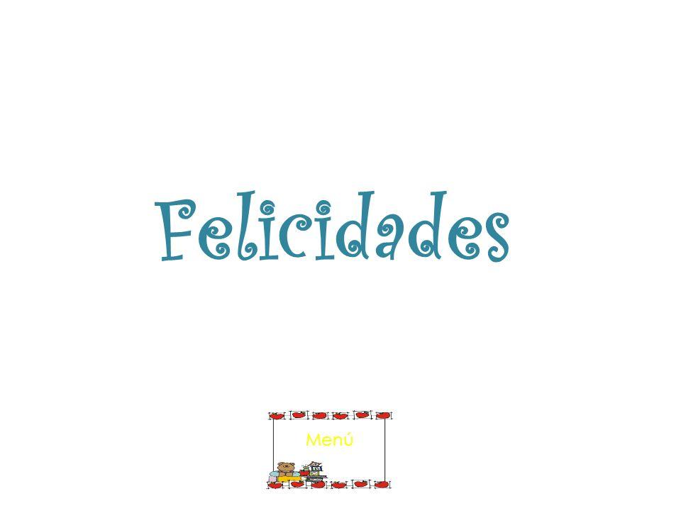Felicidades Menú