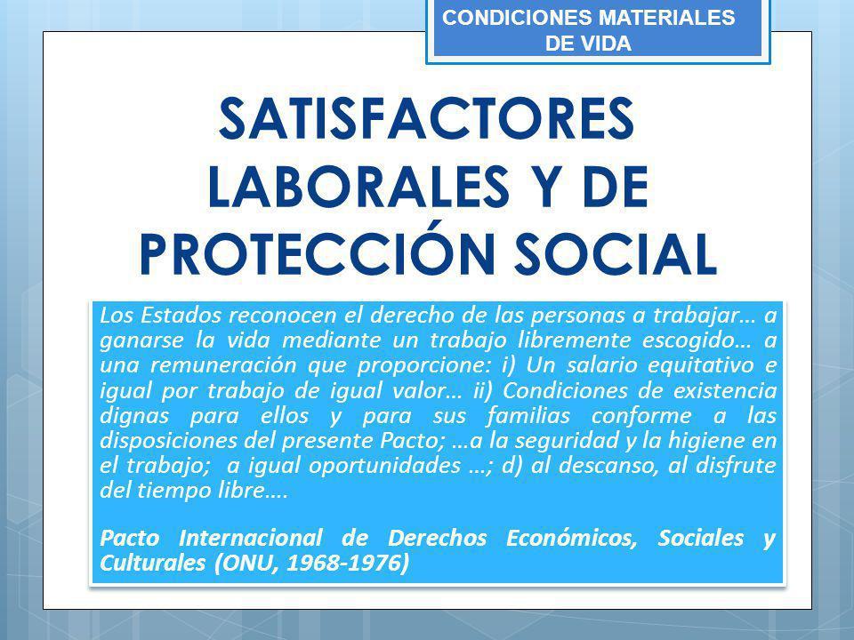 SATISFACTORES LABORALES Y DE PROTECCIÓN SOCIAL