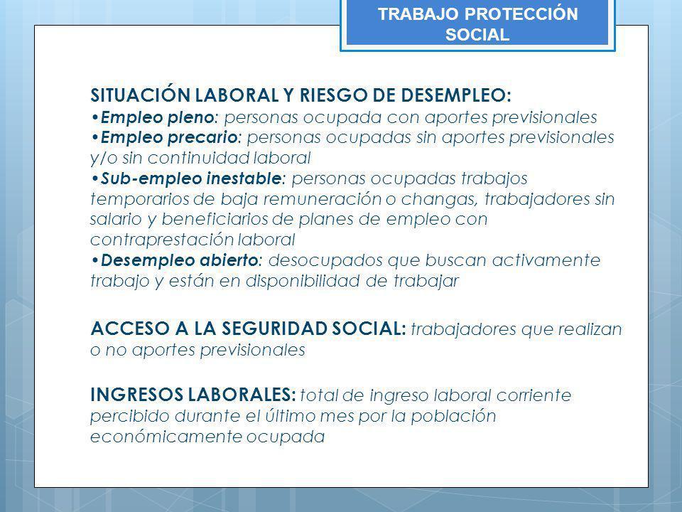 TRABAJO PROTECCIÓN SOCIAL