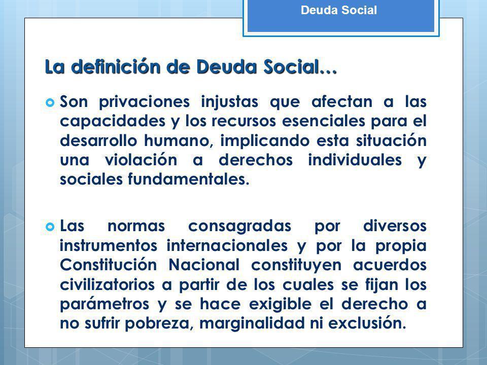 La definición de Deuda Social…