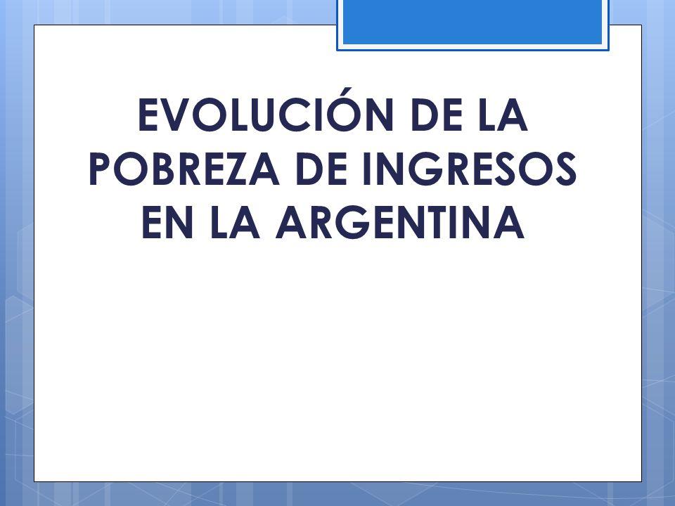 EVOLUCIÓN DE LA POBREZA DE INGRESOS EN LA ARGENTINA