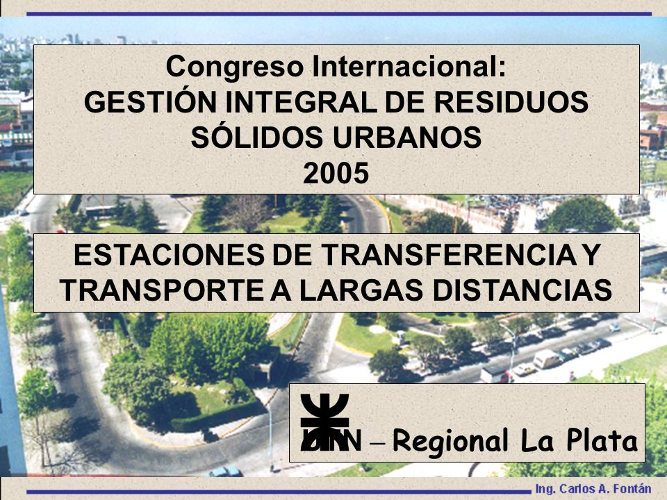 Congreso Internacional: GESTIÓN INTEGRAL DE RESIDUOS SÓLIDOS URBANOS