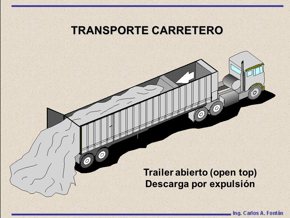 Trailer abierto (open top) Descarga por expulsión