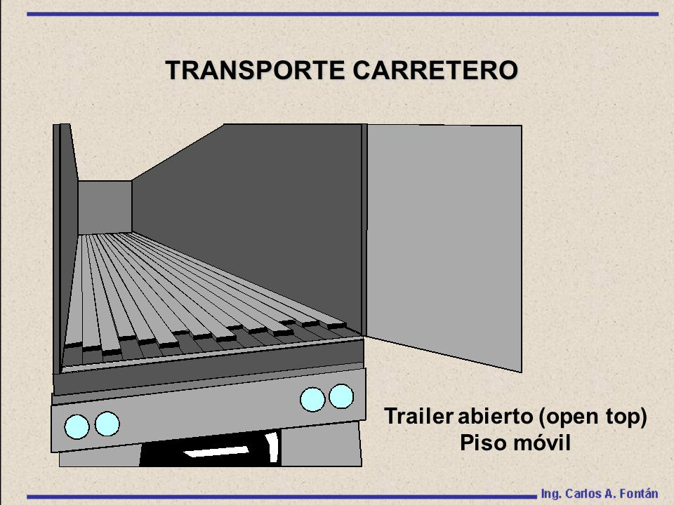 Trailer abierto (open top)