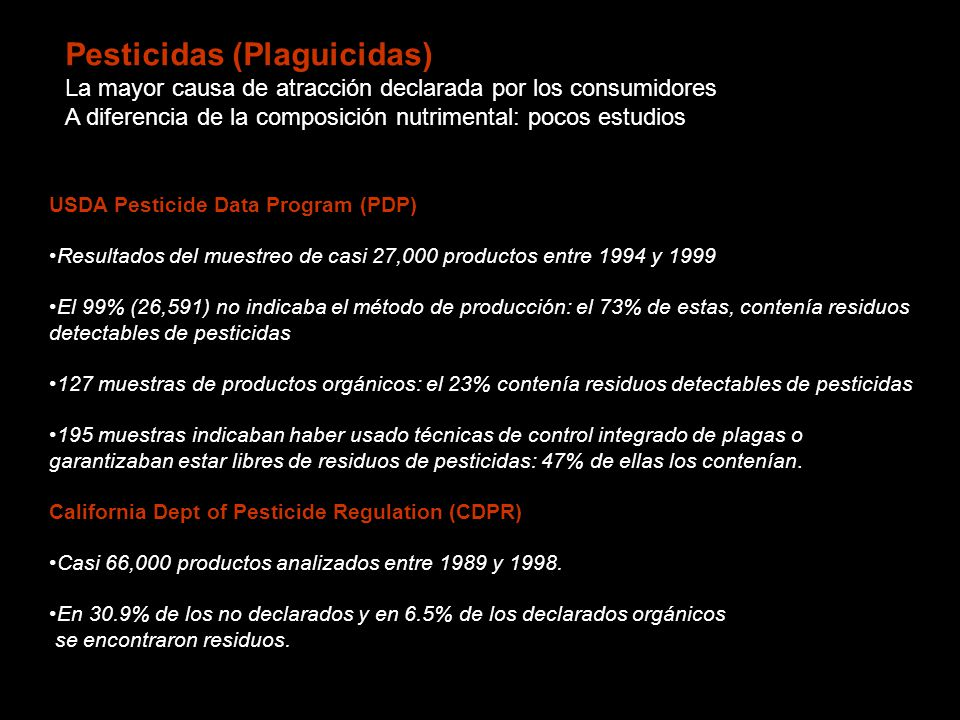 Pesticidas (Plaguicidas)