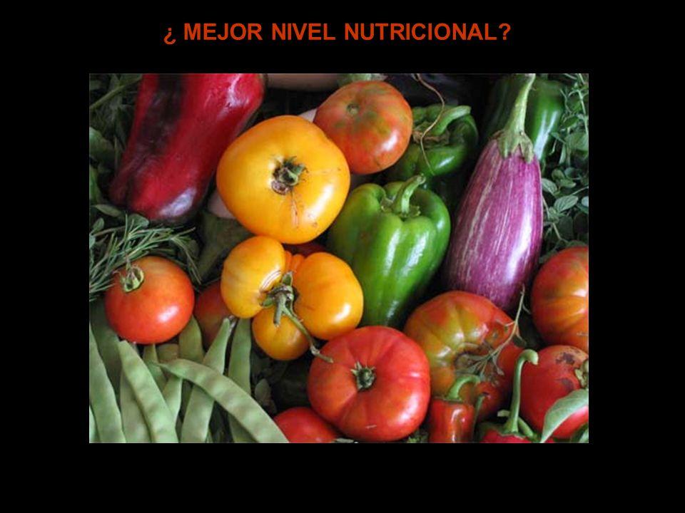 ¿ MEJOR NIVEL NUTRICIONAL