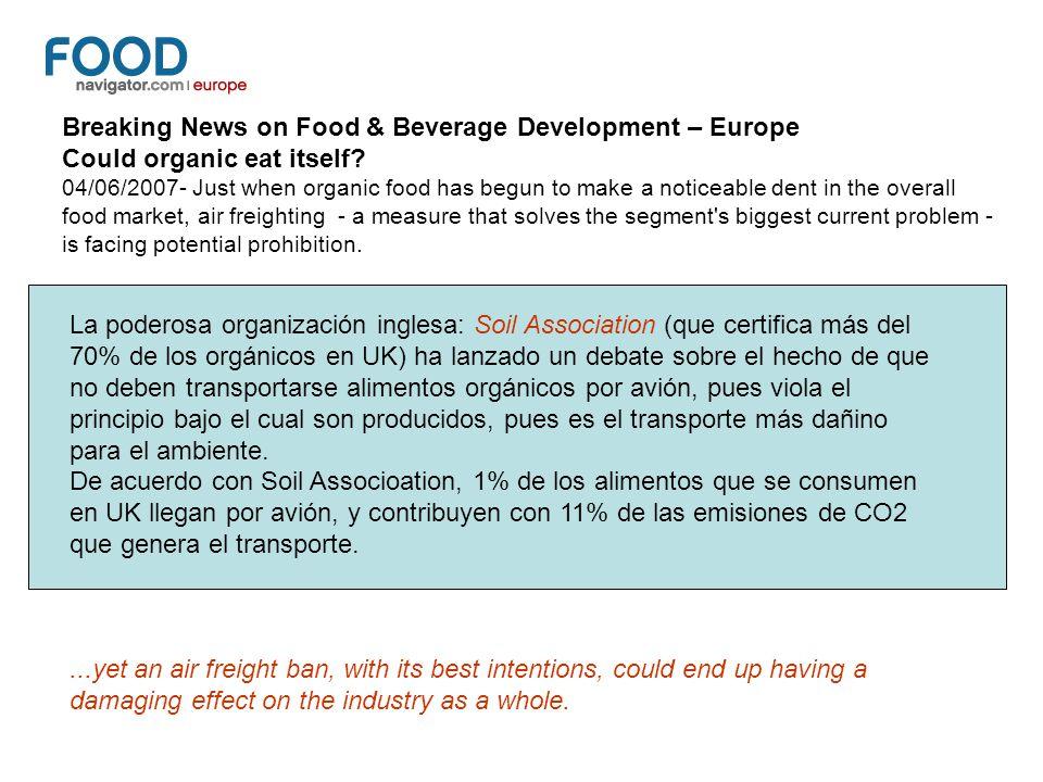 Breaking News on Food & Beverage Development – Europe
