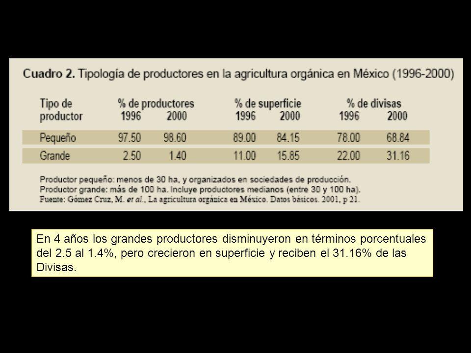 En 4 años los grandes productores disminuyeron en términos porcentuales