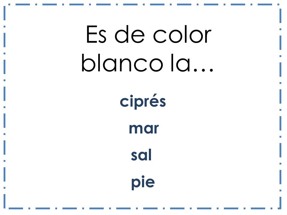 Es de color blanco la… ciprés mar sal pie