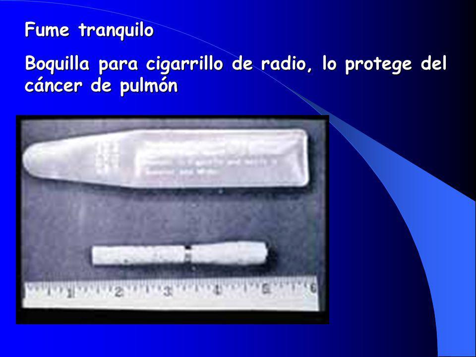 Fume tranquilo Boquilla para cigarrillo de radio, lo protege del cáncer de pulmón