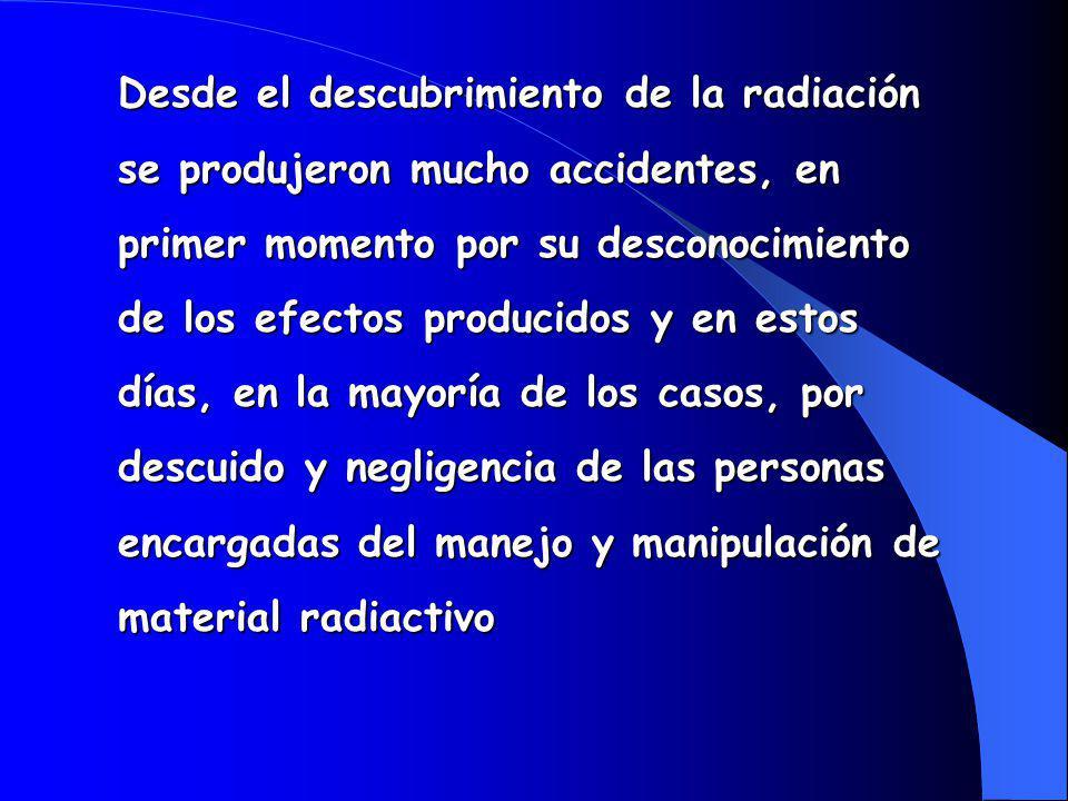 Desde el descubrimiento de la radiación