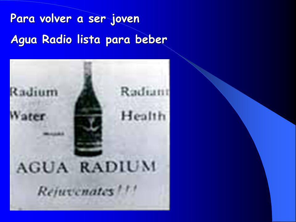 Agua Radio lista para beber