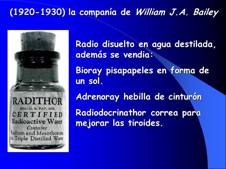 (1920-1930) la companía de William J.A. Bailey