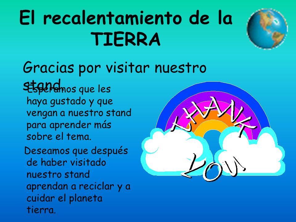 El recalentamiento de la TIERRA
