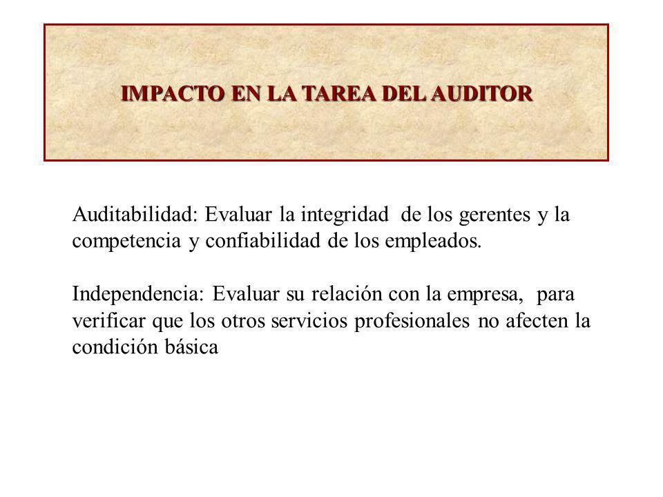 IMPACTO EN LA TAREA DEL AUDITOR