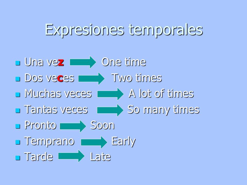Expresiones temporales