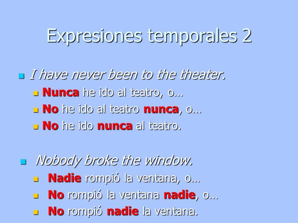 Expresiones temporales 2