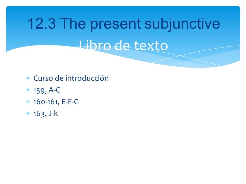 Libro de texto Curso de introducción 159, A-C 160-161, E-F-G 163, J-k