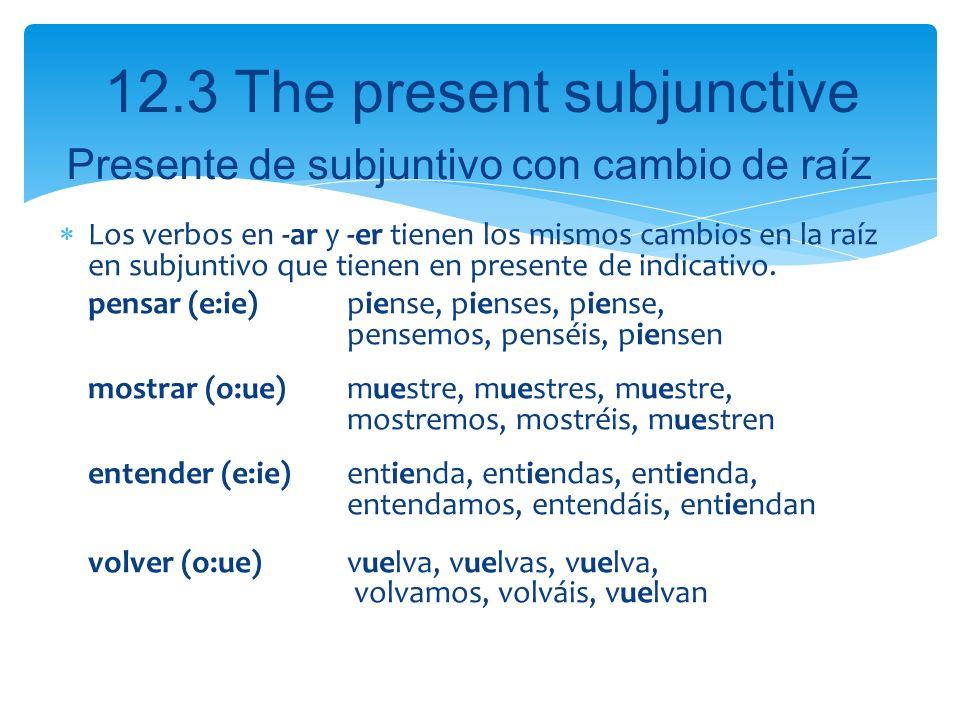 Presente de subjuntivo con cambio de raíz