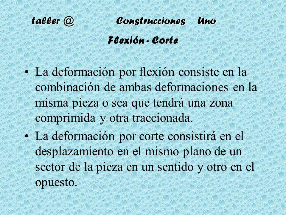 Flexión - Corte