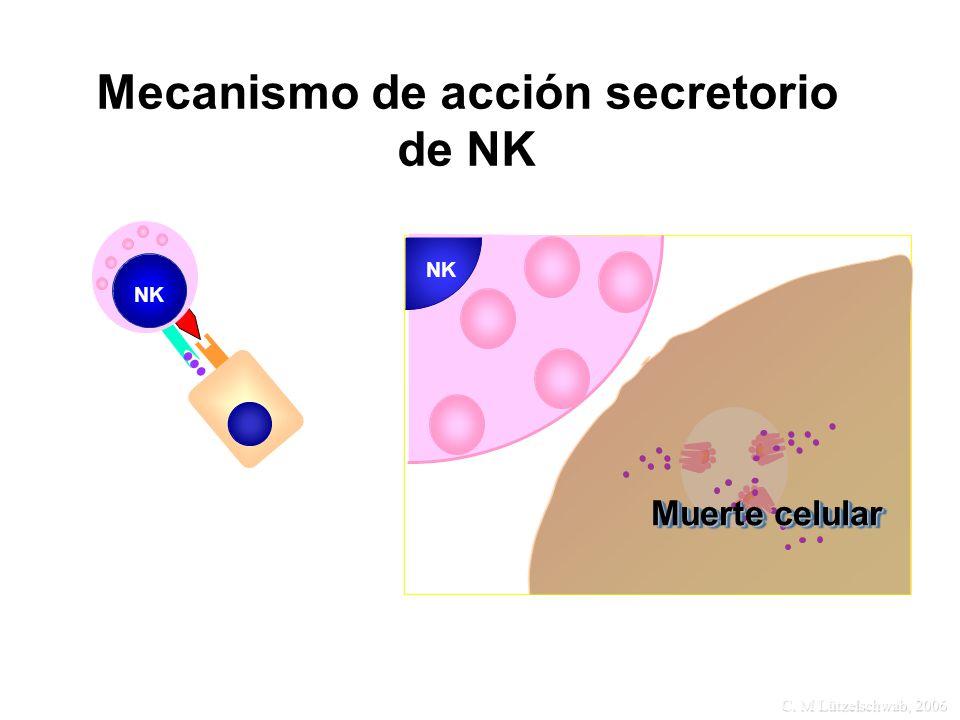 Mecanismo de acción secretorio de NK