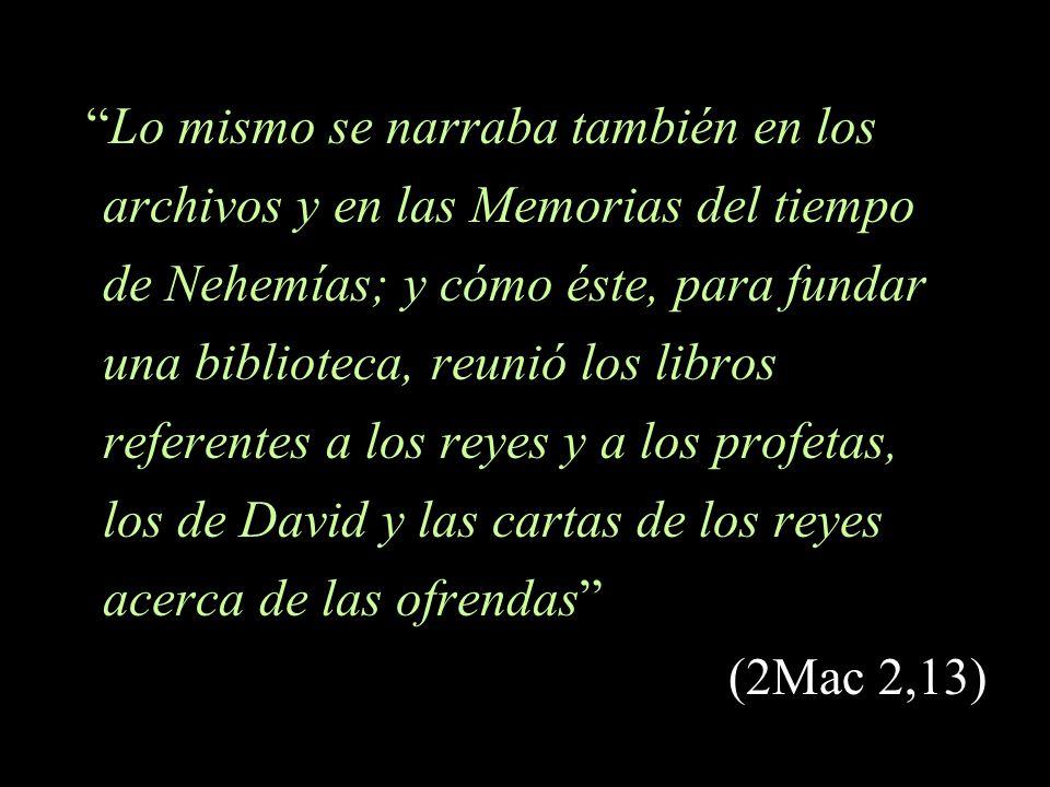 los de David y las cartas de los reyes acerca de las ofrendas