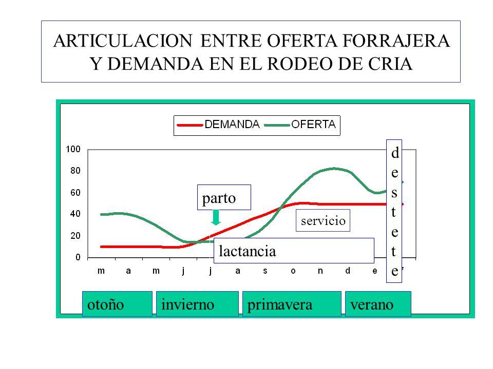 ARTICULACION ENTRE OFERTA FORRAJERA Y DEMANDA EN EL RODEO DE CRIA