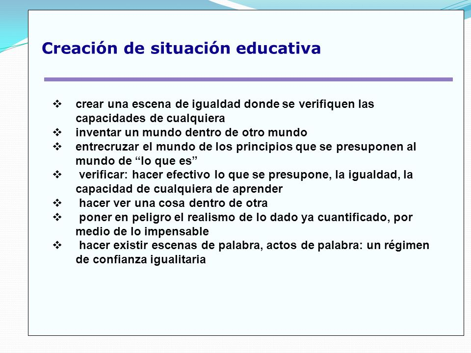Creación de situación educativa