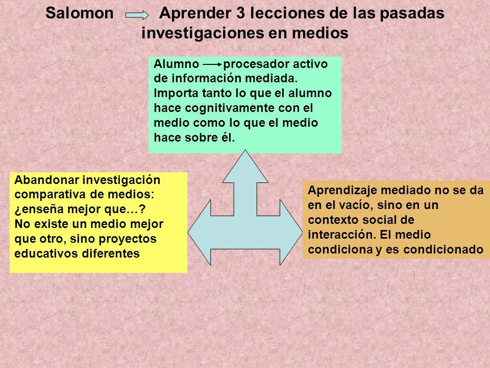 Salomon Aprender 3 lecciones de las pasadas investigaciones en medios
