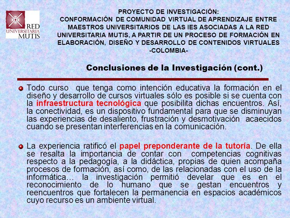 PROYECTO DE INVESTIGACIÓN: