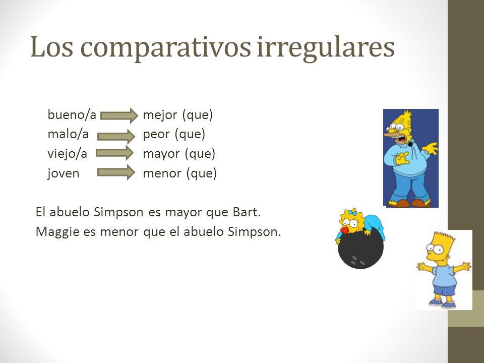 Los comparativos irregulares