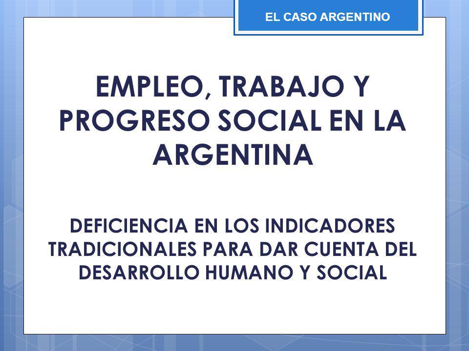 EMPLEO, TRABAJO Y PROGRESO SOCIAL EN LA ARGENTINA